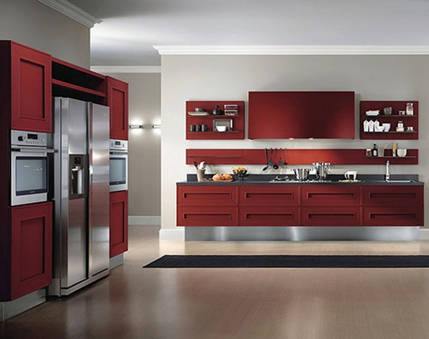 kitchen design in red colour kitchen cabinet color decorating ideas beautiful homes 787