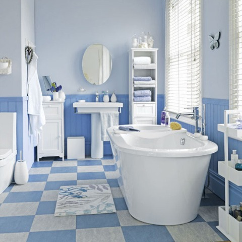 bathroom ideas blue and white color combo in white bathroom ideas beautiful homes design 22135 | White and Blue Bathroom Design Ideas