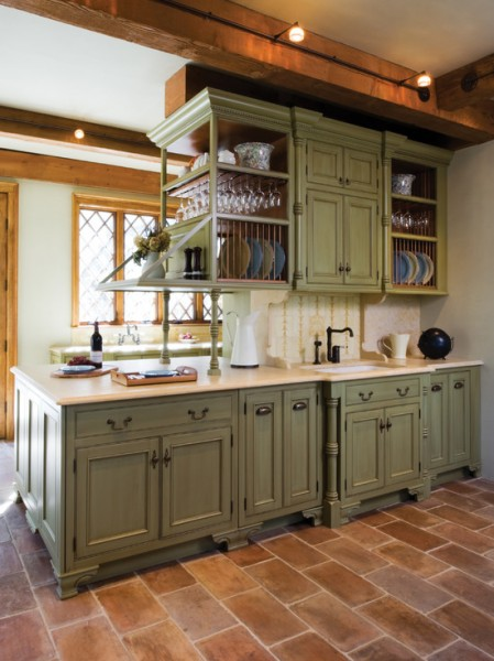 green painted kitchen cabinets antique green cabinets beautiful homes design 110