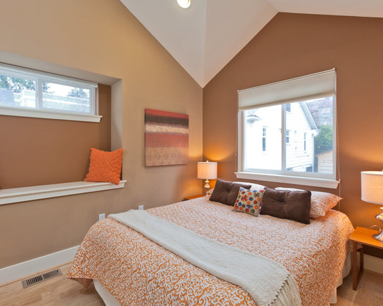 Peach And Orange Bedroom