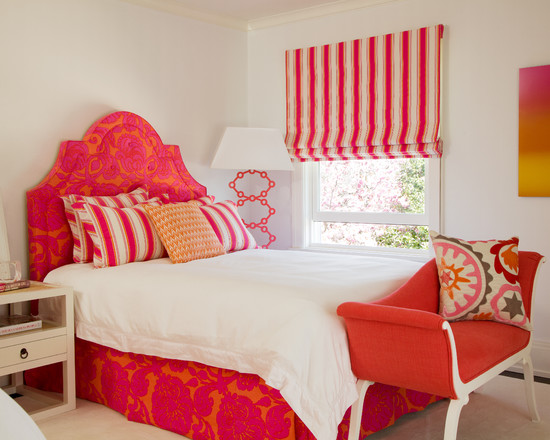 fun pink and orange bedroom beautiful homes design 19353 | fun pink and orange bedroom